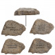 Poly stone Madlin, to stick, 4 motives, staff: 14c